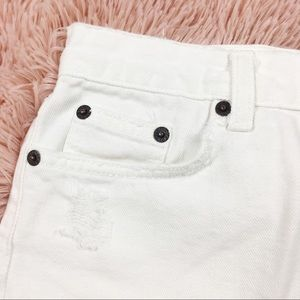 J. Crew Skirts - J. Crew Distressed White Denim Mini Skirt